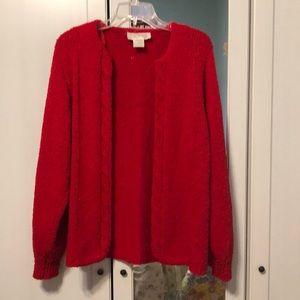 Red Cardigan, 100% acrylic